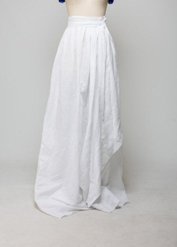 Linen White Skirt 71