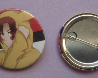 Italia Romano Pikachu Cosplay Pin