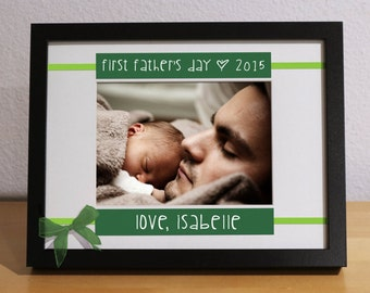 First Time Father Gift, First Fathers Day, Personalized Gift, Custom Frame, Expecting Father, Grandfather, Godfather Gift, Grandpa Gift
