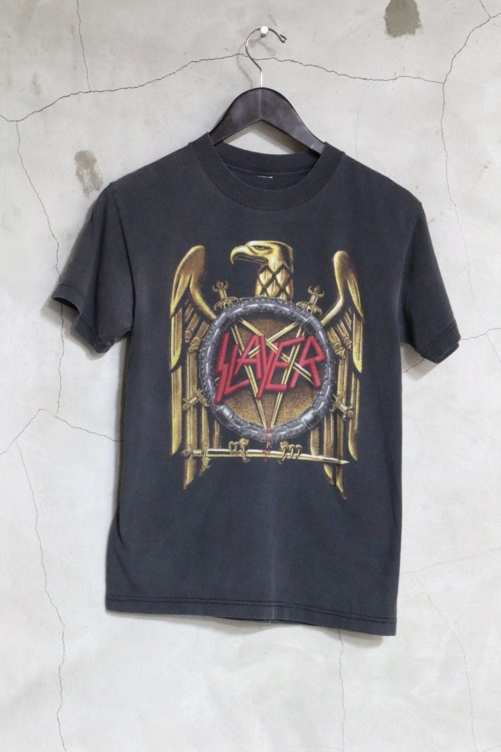Vintage slayer t shirt best naked ladies for Best selling t shirts on etsy