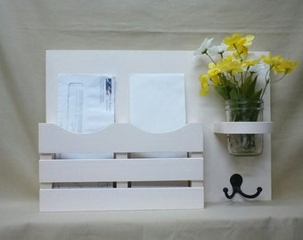 Mail Organizer – Letter Holder - Mail Holder – Jar Vase – Entryway Organizer