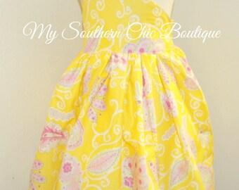 Ready to ship girls dress- Sundress- ruffle dress