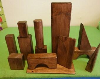 Large Wooden Play Blocks - 50