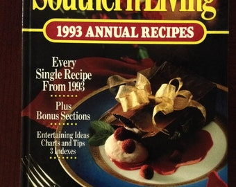Southern Living 1993 Annual Recipes - All Recipes from Southern Living from 1993 - Vintage Cookbook - Southern Living Vintage Cookbook