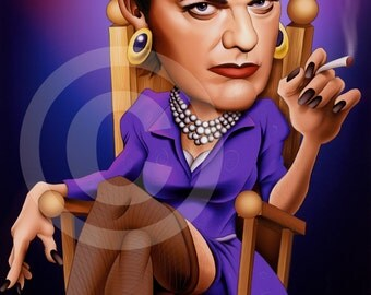 Eddie Izzard caricature - artwork print signed by artist - 100 print edition - A3 size