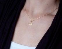 Gold Star Of David Necklace, Jewish Star Necklace, Dainty Gold Necklace, Magen David Necklace, Tiny Star Of David Necklace, Delicate Jewelry
