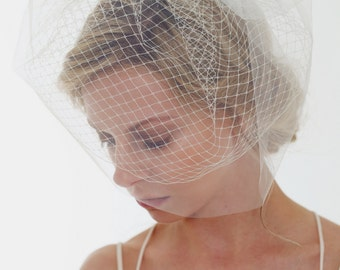 FABRIC SAMPLE of this Bridal Veil, Birdcage Veil, Russian Veiling, 1950s style