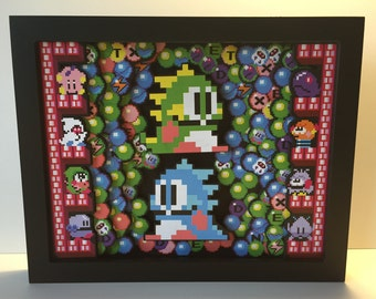 Bubble Bobble 3D Shadow box