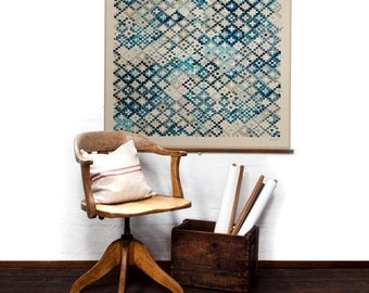 Tapestry in Prussian Blue wall hanging