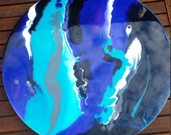 "50cm Resin Artwork ""Ripples"""