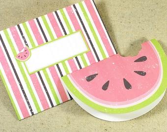 WATERMELON Printable Card Envelope Digital Instant Download PDF Fruit Beach Summer Blank Greeting Card Envelope Invitation Party Melon