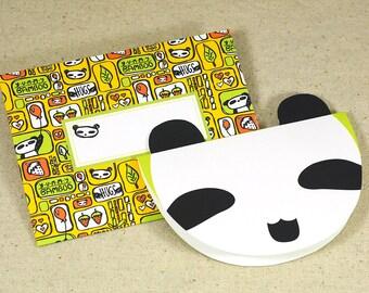 PANDA Printable Card Envelope Digital Instant Download pdf invitation blank party children birthday zoo bear stationery invite notecard