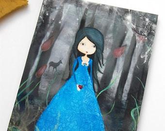 Snow white-print