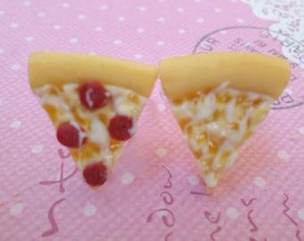 Kawaii Best Friend BFF Pizza Rings, Polymer Clay Food Jewelry, Best Friend Presents