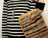 Vintage Wristlet Bag Purse Clutch NWT Swee Lo NY Fur Women Accessories Bags and Purses New Old Stock 80s Retro Handbag Hippie Bohemian Boho
