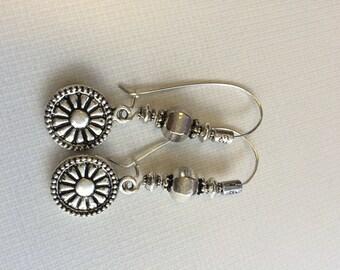 Sitara - Eclectic Silver Earrings