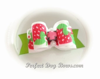 Strawberries Dog Bow for Yorkie, Shih Tzu, Poodles