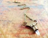 Antique Brass Key & Quartz Pendulum