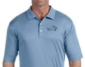 Men's Embroidered Dachshund Wahoo Wiener Polo Shirt