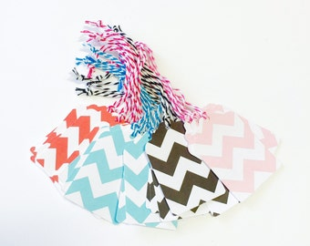 20 Medium Size Chevron Hang Tags