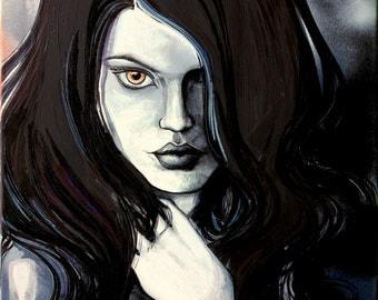 Dark Art female figure portrait print reproduction by Aja ebsq 9x12 18x24 choose size Persephone