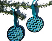 SALE - Blue Ornaments - 2...