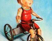 "Custom Toy Portrait - acrylic on canvas -5""x7"""