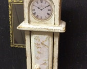 Miniature Grandfather Clock 12th scale Shabby White