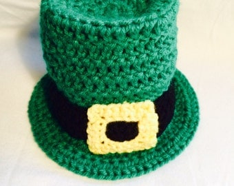 Infant Newborn Baby Leprechaun Crochet Hat Photoprop