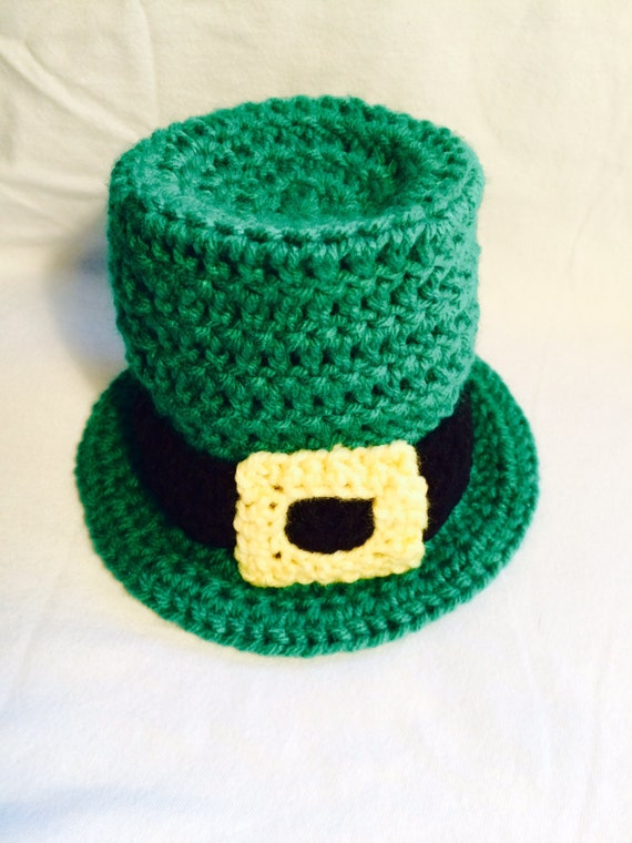 Crochet Baby Leprechaun Hat Pattern : Infant Newborn Baby Leprechaun Crochet Hat Photoprop