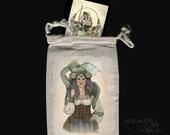 Steam Tarot bag drawstring pouch steampunk dragon