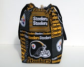 HOLIDAY SALE - Pittsburgh Steelers Drawstring Knitting Project Bag