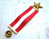 1 Hetalia Russia Medal ribbon Ivan Braginsky award star red white stripe stripes medals Russian Anime series show cosplay costume full size