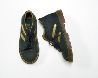 DOC MARTENS . suede shoes . made in ENGLAND .  junior size 12