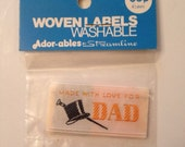 Vintage Clothing Label - DAD - labels by Streamline to Sew On