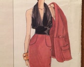 Vogue Karl Lagerfeld Paris Original Pattern Vogue 2755 Jacket, Halter and Skirt Pattern