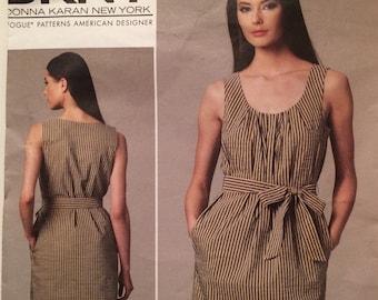 Vogue DKNY Dress and belt pattern Vogue American Designer Pattern 1236  easy to Sew