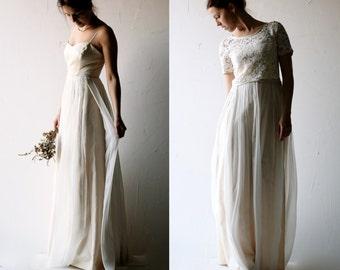 Lace wedding dress, Modest wedding dress, Bohemian Wedding dress, Boho wedding dress, Simple wedding dress, Bridal Separates, Bridal gown
