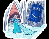 Individual Die Cut Frozen In Space and Time sticker (Item 01-316)