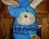 Whimsical  Welcome Hare Door Hanger