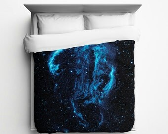 Cygnus Loop Nebula, Outer Space, Duvet Cover - Made in USA
