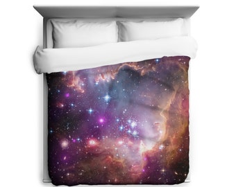 "Outer Space Duvet, Under the ""Wing"" of the Small Magellanic Cloud Duvet Cover - Printed in USA"
