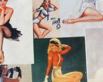 Marilyn Monroe, Pin-up Girls, Marlene Dietrich Fabric 4 Sample Pieces