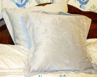 Pillow sham, minky pillow case:  Custom made luxury, 24 x 24 inch square
