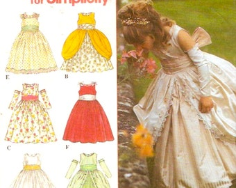Elegant Flower girl dress sewing pattern Simplicity 8953 Uncut Sz 4 to 8 Wedding party