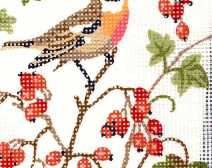 November Bird Tapestry Robin Sofie Kinetic Half Cross stitch embroidery kit Floral Woodland Nature design 8 X 10 finished size Still sealed