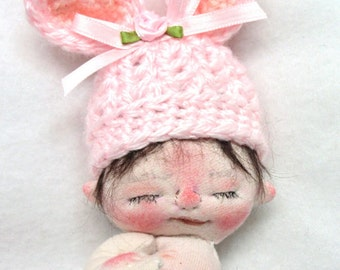 Sale** McKenzie a One of a Kind Miniature Soft Sculpture Baby Doll by BeBe Babies