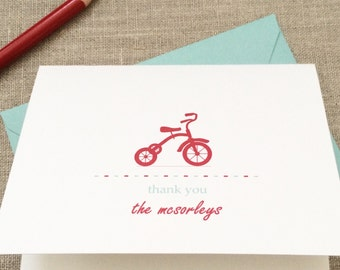 16 tricycle baby Shower Thank You Cards - Vintage Baby Shower Thank You Cards - Tricycle Thank You - Baby Thank You Cards