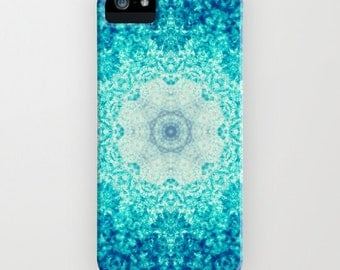 plastic case- Samsung Galaxy- iphone 6/6S case- kaleidoscope art- blue- modern design-abstract- Blue Waves iphone Case