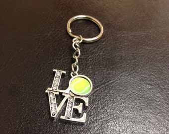 Tennis Love Keychain